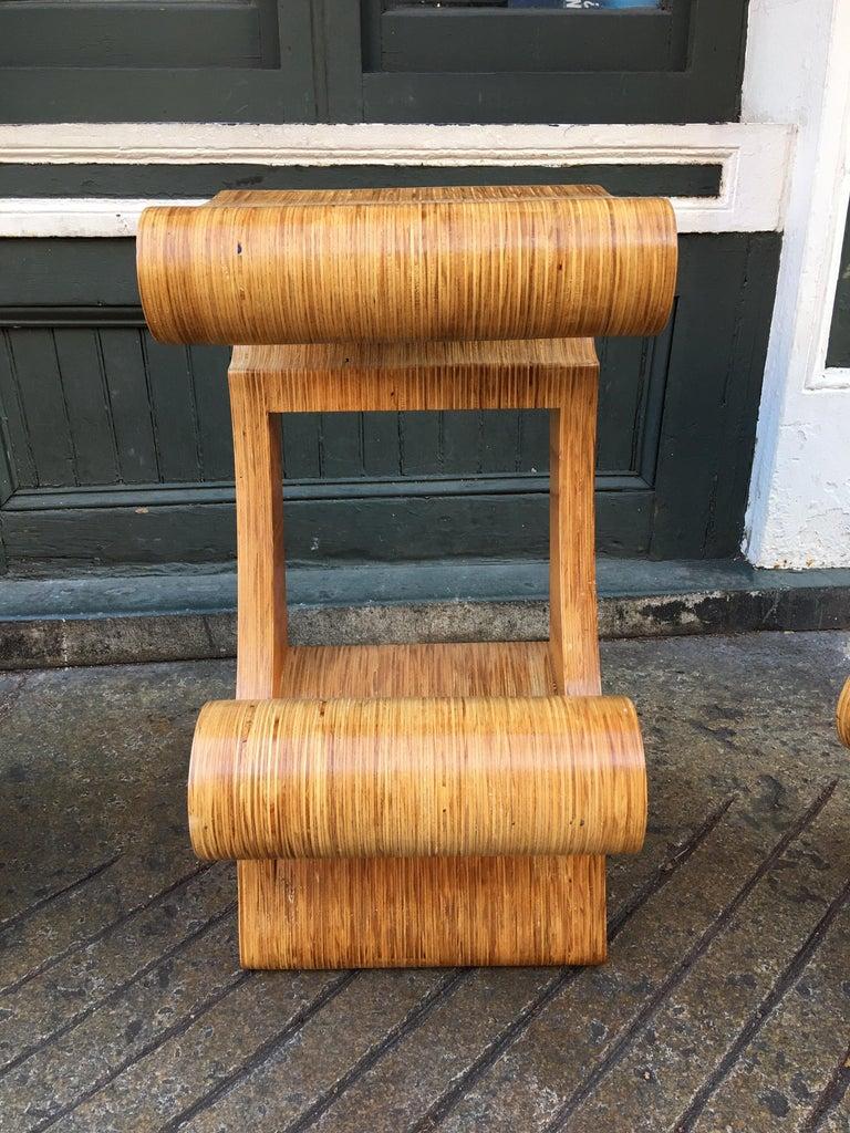 Joe Manus Plywood Laminate Set of 3 Stools For Sale 1