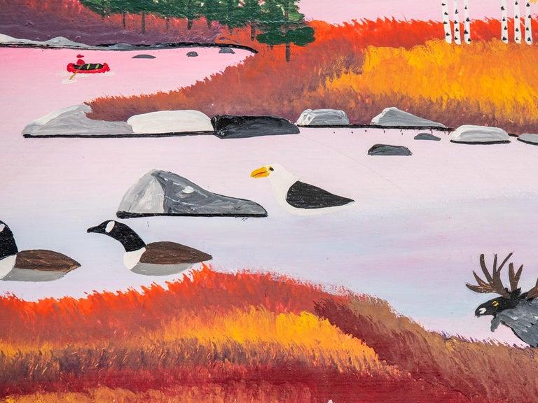Seascape - Folk Art Painting by Joe Norris