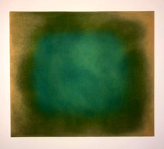 Abstract Color Field Gradient Monoprint Aquatint Etching California Minimalism
