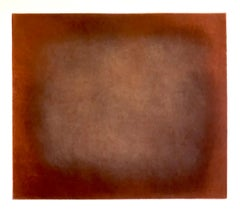 Abstract Color Field Red Purple Gradient Aquatint Etching California Minimalism