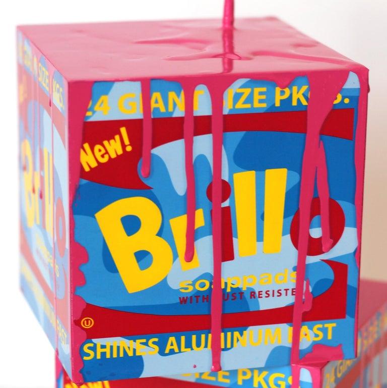 Happy Accident Series - Brillo Box - Pop Art Sculpture by Joe Suzuki
