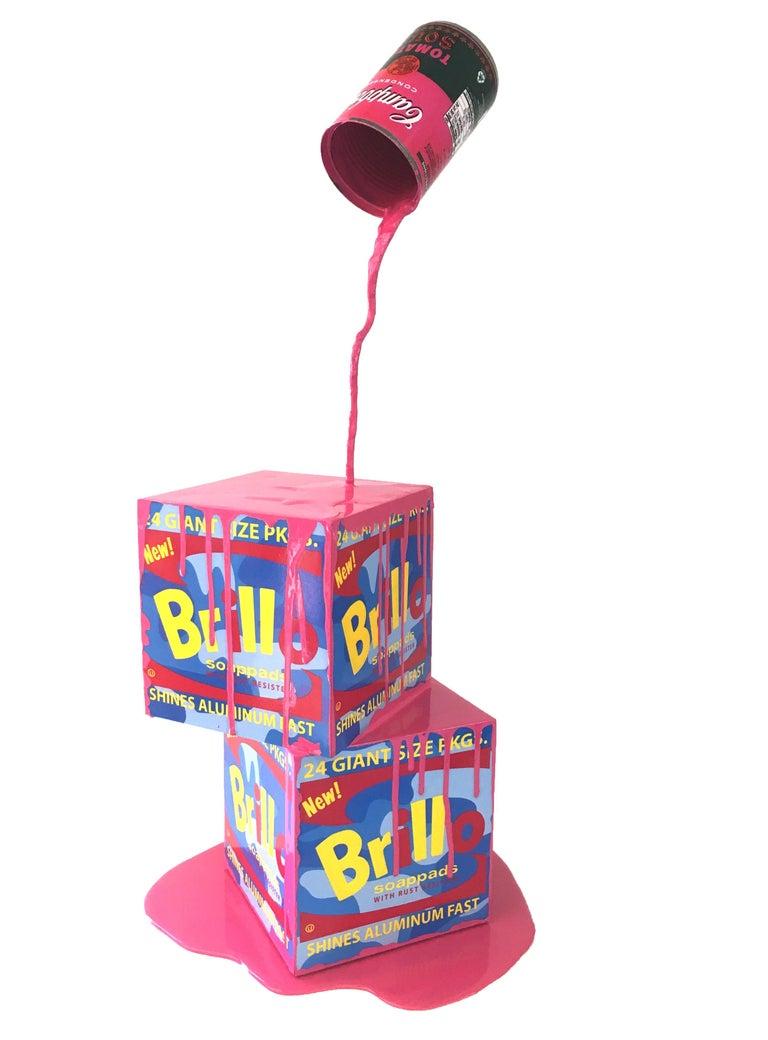 Joe Suzuki Figurative Sculpture - Happy Accident Series - Brillo Box