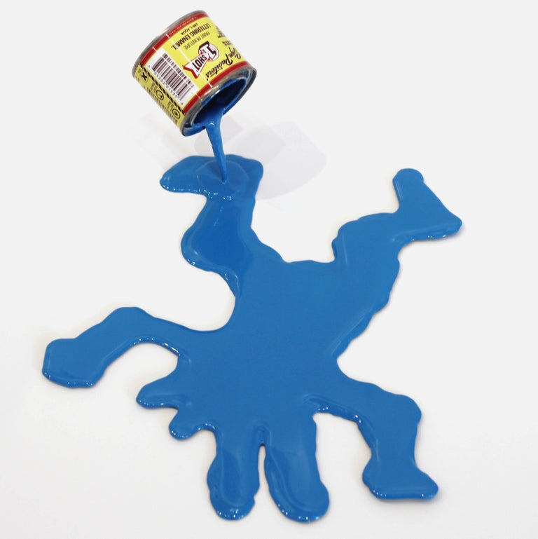 Joe Suzuki Abstract Sculpture - Happy Accident Series - Keith Haring Dancing Dog Man