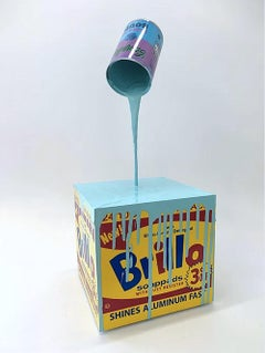 """Happy Accident - ""Warhol Brillo Box teal"""