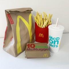 """Trompe l'oeil Series - McDonald's Meal"" - Life Size"