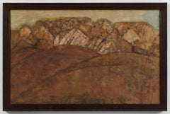 San Quirico d'Orcia I - 20th Century, Oil on canvas by Joe Tilson