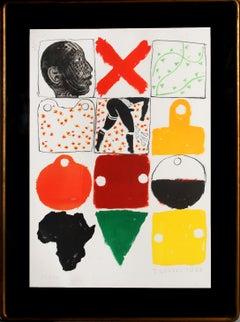 Against Apartheid, Lithograph by Joe Tilson