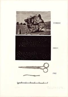 Avebury, Sirius, Fire - Original Erching by Joe Tilson - 1976