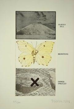 Silbury Hill - Original Etching by Joe Tilson - 1976