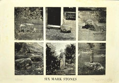 Six Mark Stones - Original Etching on Paper by Joe Tilson - 1976