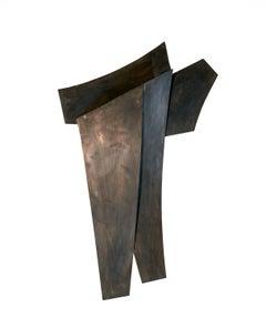 We Were Never Strangers: Minimalist Abstract Dark Metal Wall Sculpture