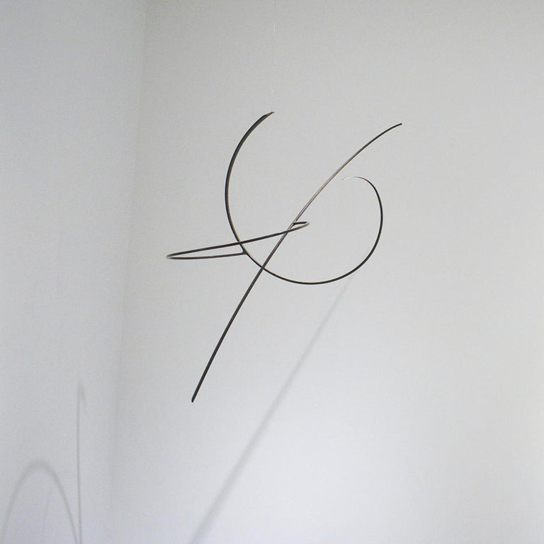 Whim Led the Way: Contemporary Abstract Oxidized Steel Wall Sculpture For Sale 1