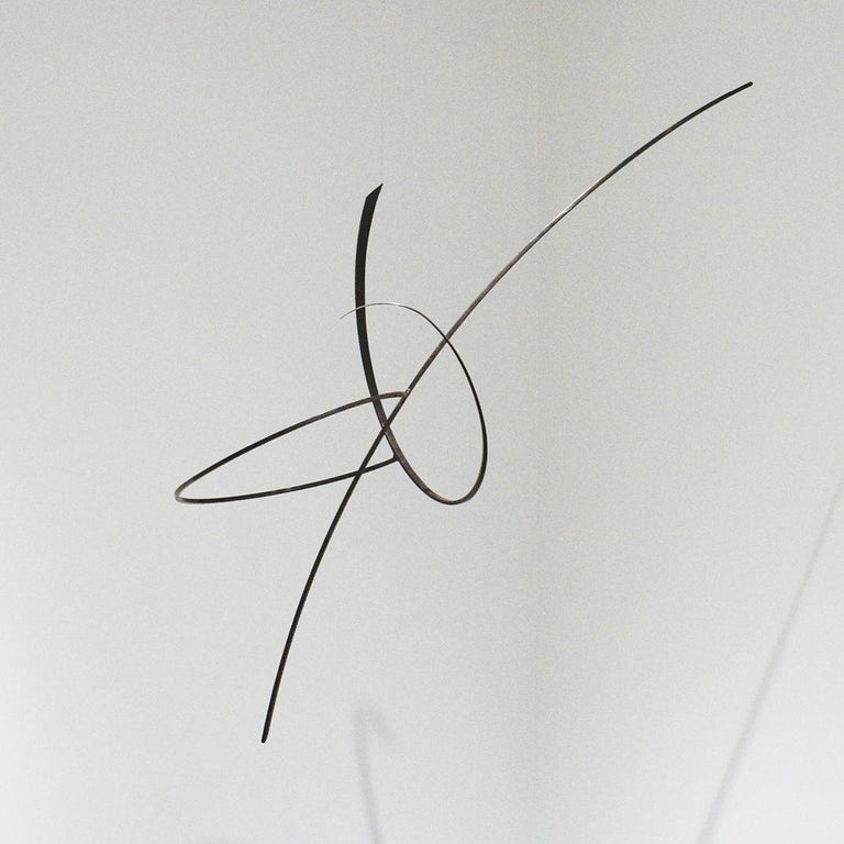 Whim Led the Way: Contemporary Abstract Oxidized Steel Wall Sculpture For Sale 2