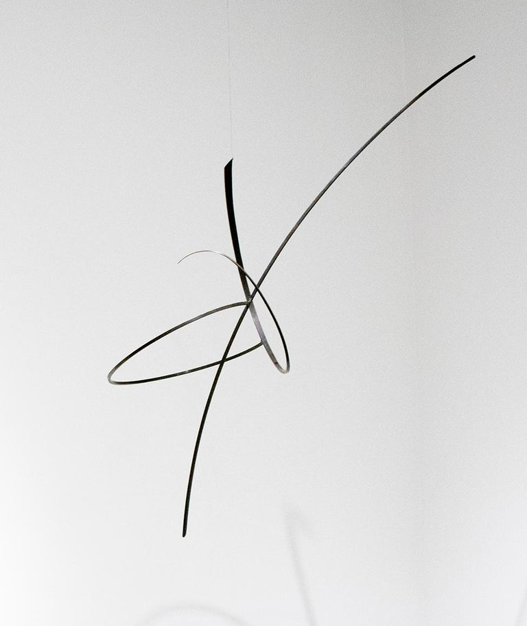 Whim Led the Way: Contemporary Abstract Oxidized Steel Wall Sculpture For Sale 3