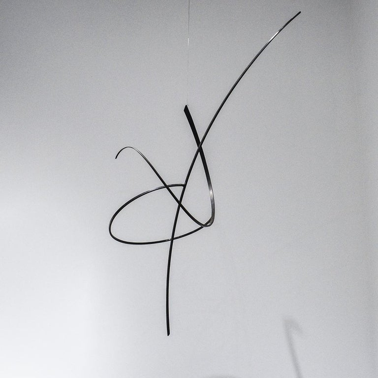 Whim Led the Way: Contemporary Abstract Oxidized Steel Wall Sculpture For Sale 4