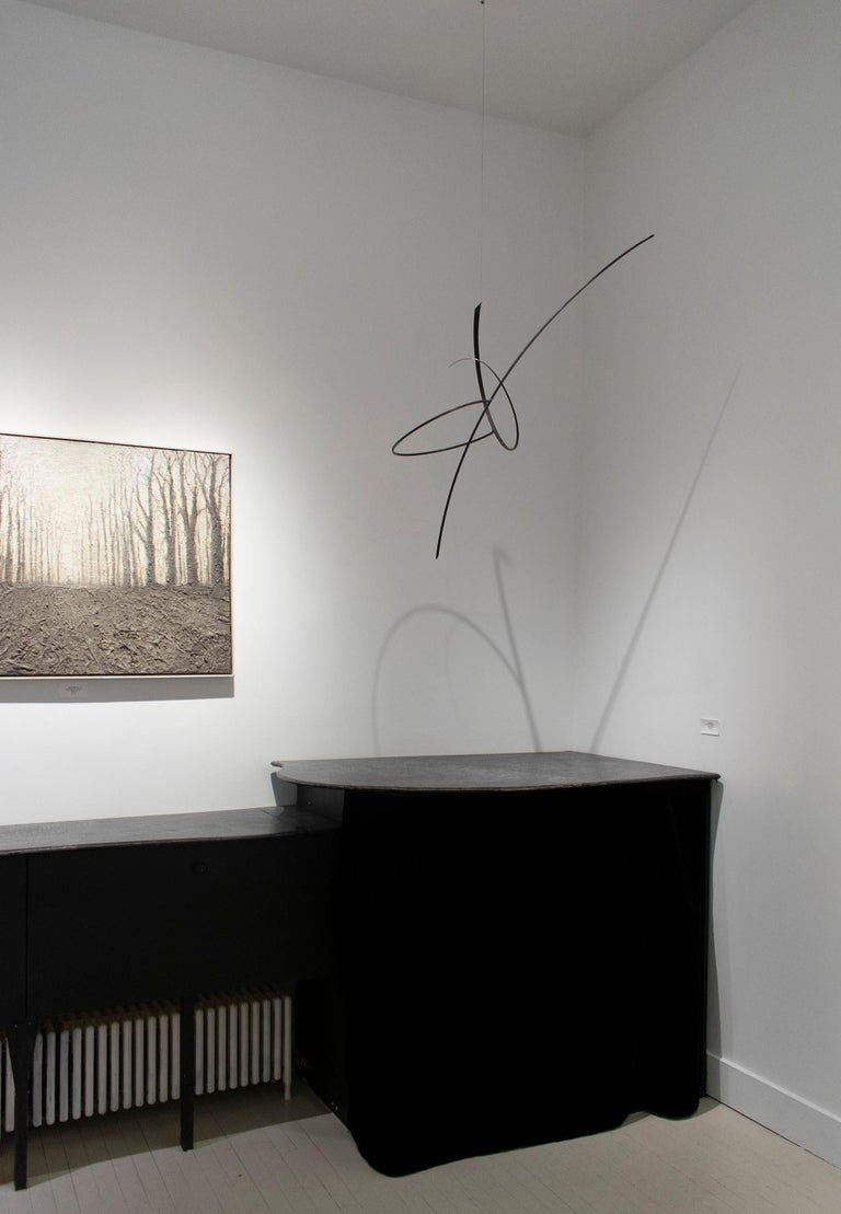 Whim Led the Way: Contemporary Abstract Oxidized Steel Wall Sculpture For Sale 7