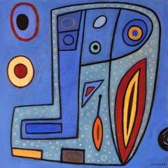 Blueish World 2, Painting, Acrylic on Canvas