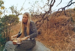 Joni Mitchell, Playing Dulcimer, Laurel Canyon, 1970