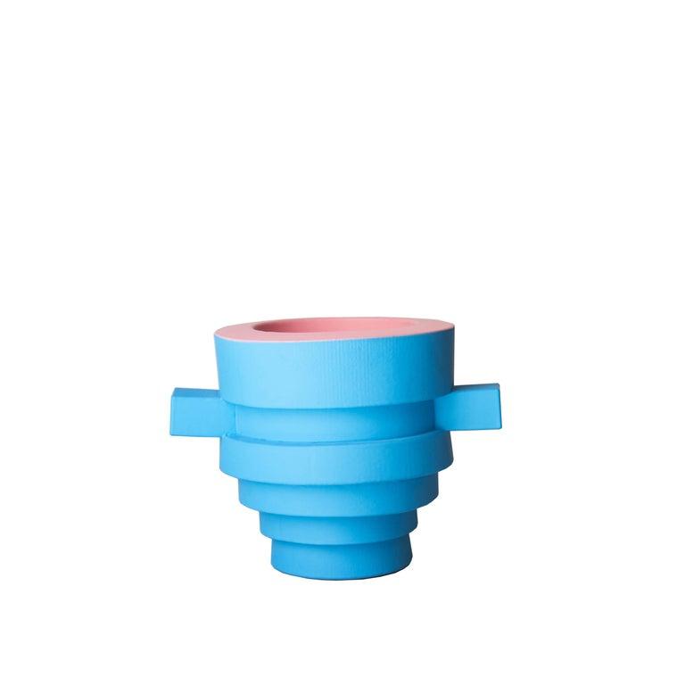 Joel Blanco Contemporary Foam Rubber Pink Blue Vases, Spain, 2019