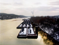 Oil Spill, Monongahela River, Pittsburgh, PA, Photograph, Archival Ink Jet