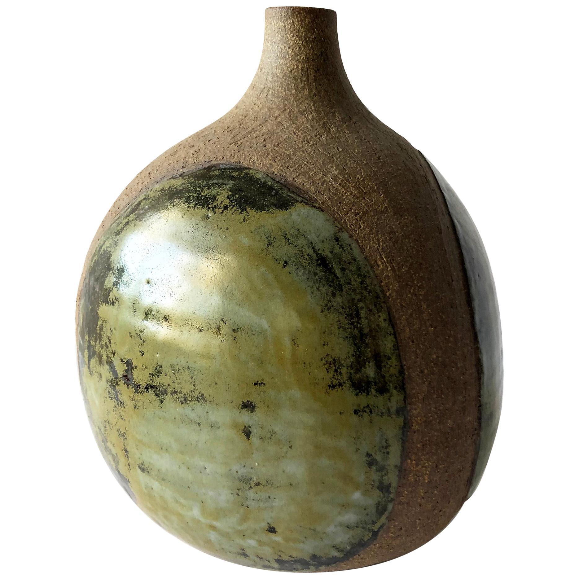 Joel Edwards California Studio Stoneware Triple Sided Vase
