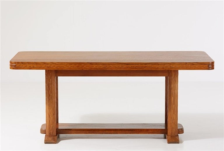 Joel Norborg, Library Table, Oak & Oak, Sweden, 1910 For Sale 3