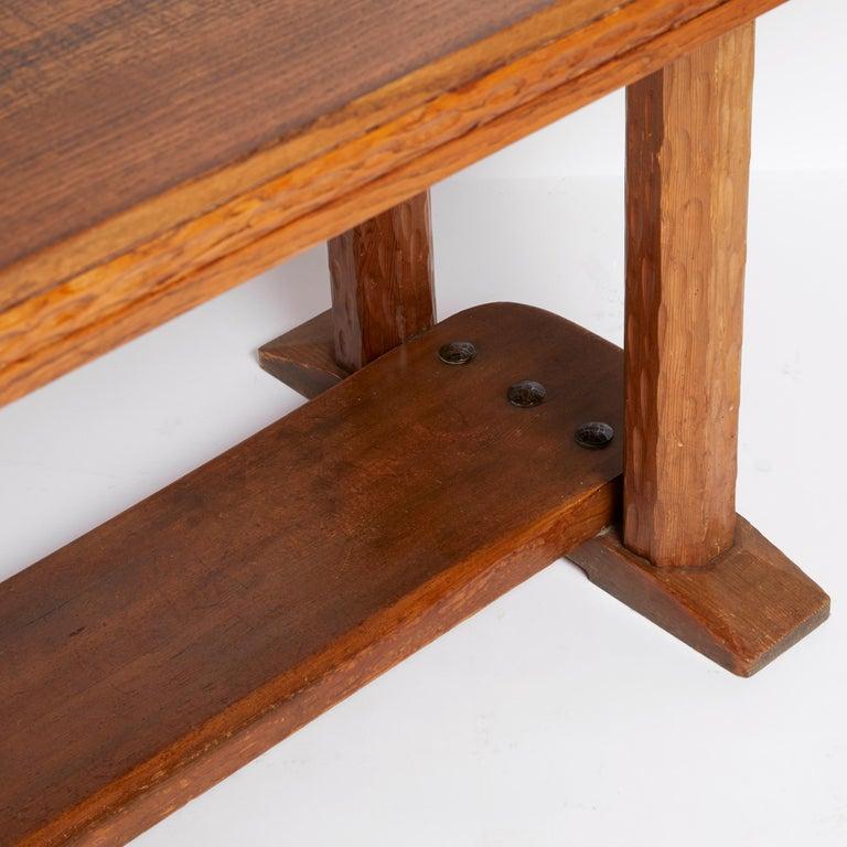 Scandinavian Modern Joel Norborg, Library Table, Oak & Oak, Sweden, 1910 For Sale