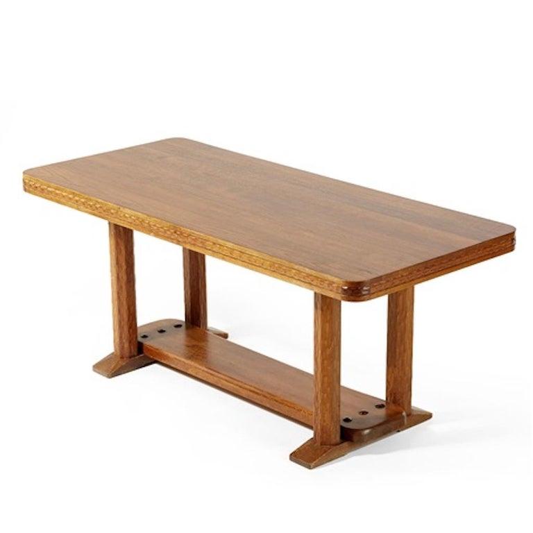 Swedish Joel Norborg, Library Table, Oak & Oak, Sweden, 1910 For Sale