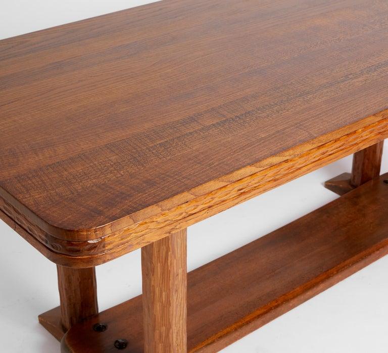 Joel Norborg, Library Table, Oak & Oak, Sweden, 1910 In Good Condition For Sale In , DE