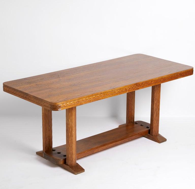 Early 20th Century Joel Norborg, Library Table, Oak & Oak, Sweden, 1910 For Sale