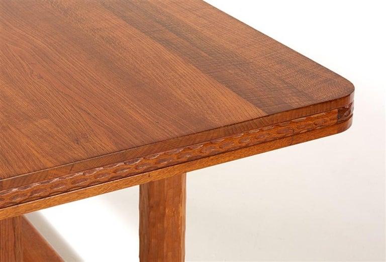 Joel Norborg, Library Table, Oak & Oak, Sweden, 1910 For Sale 2