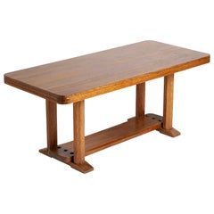 Joel Norborg, Library Table, Oak & Oak, Sweden, 1910