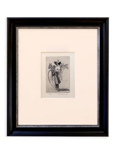 Lily of the West 27/72 (Etching, cowgirl, attitude, horses)