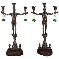 Joel Otterson G.I. Joe Candelabras in Cast Iron