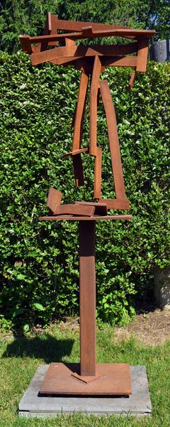 """""""Red Ryder"""" Large-Scale, Abstract Metal Sculpture in steel by Joel Perlman"""