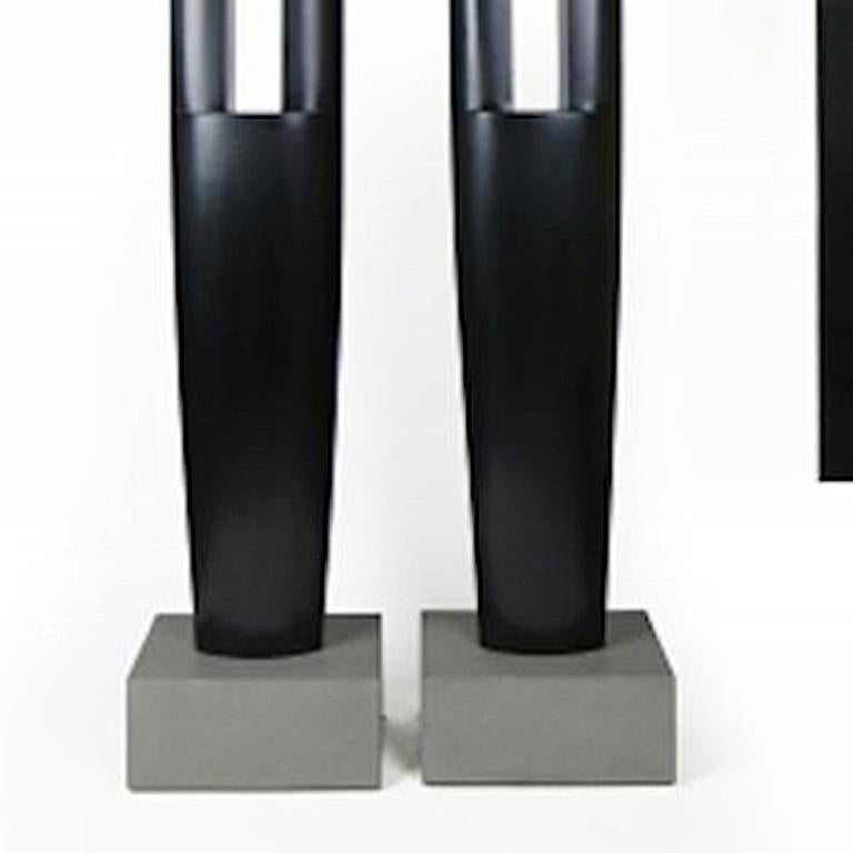 Silver and Black Sentinels - Contemporary Sculpture by Joel Urruty
