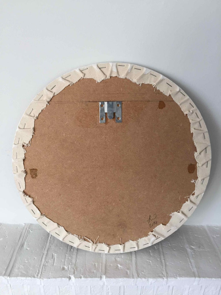 Hung: Round Perspective Drawing/Painting of Imaginary Spaces by Joella Wheatley For Sale 7