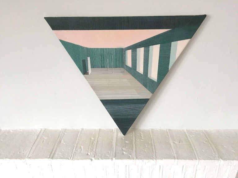 Intro: Perspective Drawing/Painting about Imaginary Spaces by Joella Wheatley For Sale 2