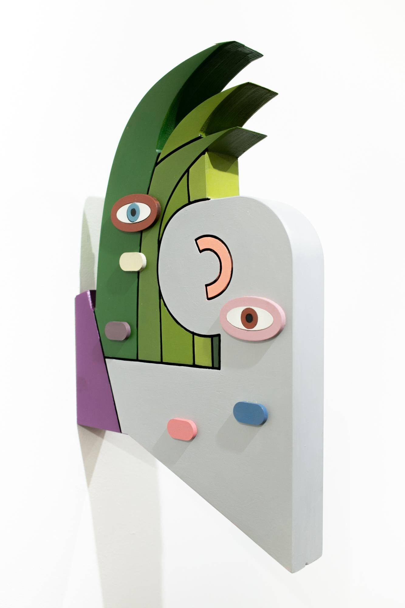 """""""All the same"""", Abstract Wall-Hanging Sculpture, Color-Blocking, Surreal"""