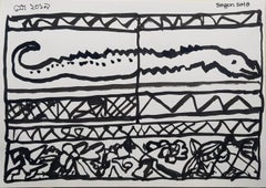 """Untitled, Ink & Brush on Paper by Modern Indian Artist """"In Stock"""""""