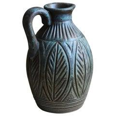 Joghus Keramik, Pitcher or Vase, Stoneware, Bornholm, Denmark, 1956