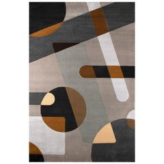 Joh Multi-Color Area Rug in Hand-Tufted Wool and Botanical Silk by Rug'Society