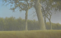 The Yellow Route- 21st Century Contemporary Dutch Landscape Painting with Trees