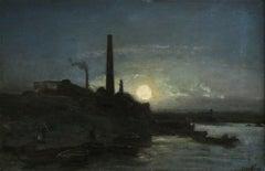 Bord de Seine au Clair de Lune