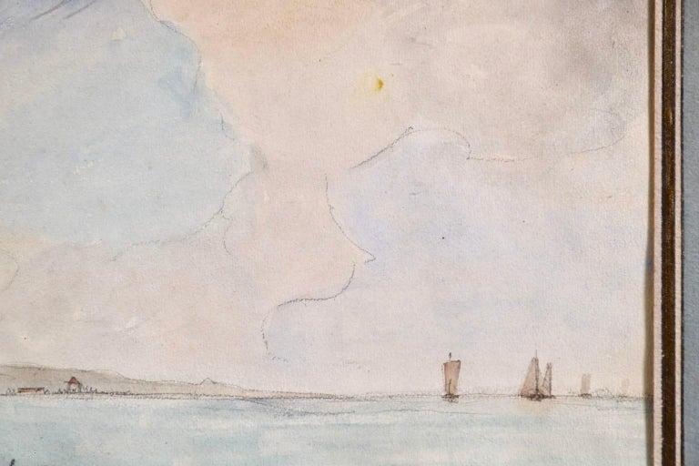 Marseille - Coastal Landscape Impressionist Watercolor - Johan Barthold Jongkind For Sale 1