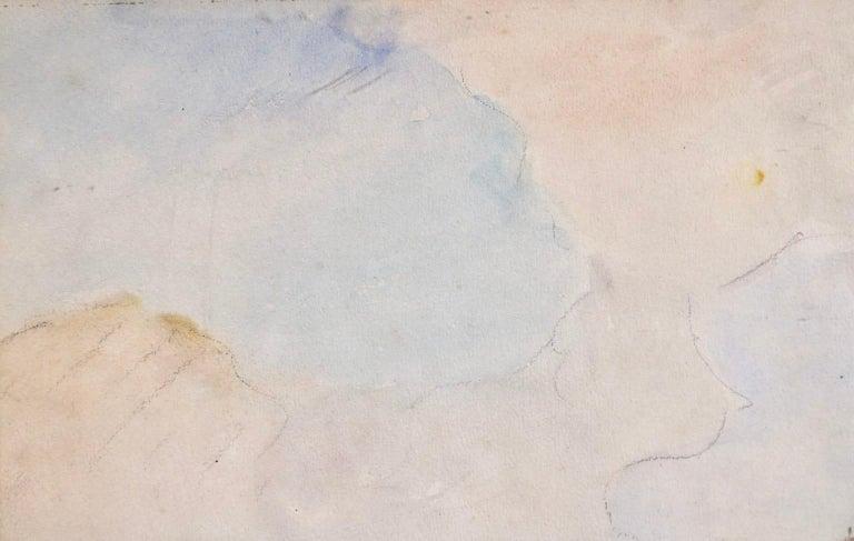 Marseille - Coastal Landscape Impressionist Watercolor - Johan Barthold Jongkind For Sale 4