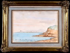 Marseille - Coastal Landscape Impressionist Watercolor - Johan Barthold Jongkind