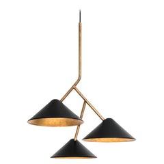 Johan Carpner Grenverk Black Brass Ceiling Lamp by Konsthantverk Tyringe