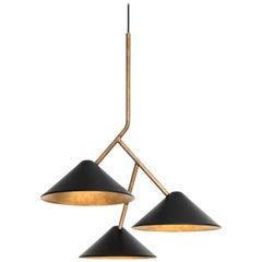Johan Carpner Grenverk Black Brass Celing Lamp by Konsthantverk Tyringe