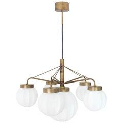 Johan Carpner Klyfta 6L Raw Brass Ceiling Lamp by Konsthantverk